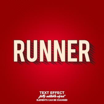 Läufer text-effekt mit künstlerischen schatten