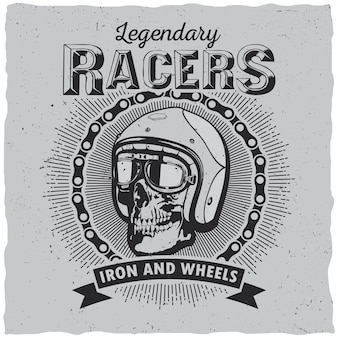 Lagendary racers label