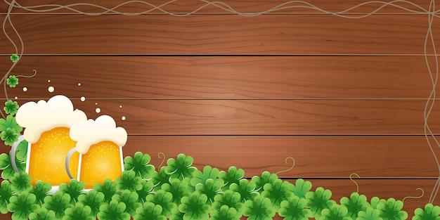 Lager bier blase banner.