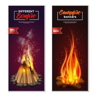 Lagerfeuer banner set