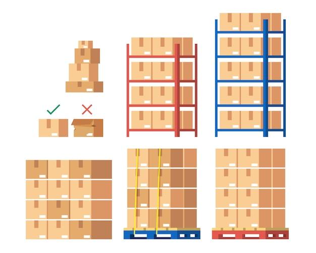 Lagerinventar und lieferarbeiter