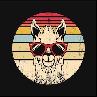 Lama mit brille