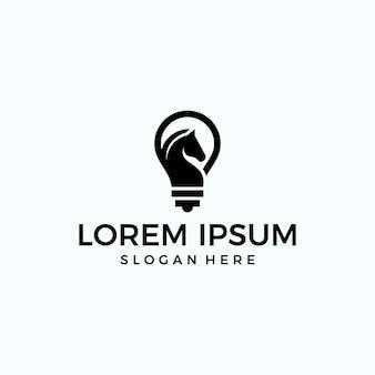 Lampe + pferd logo (technologie)