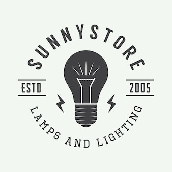 Lampe und lichtlogo