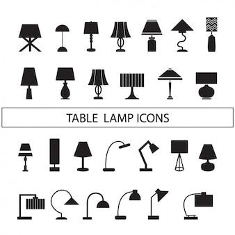 Lampen-silhouetten sammlung