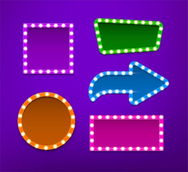Lampenfassungen in verschiedenen farben und formen sammlung shapes