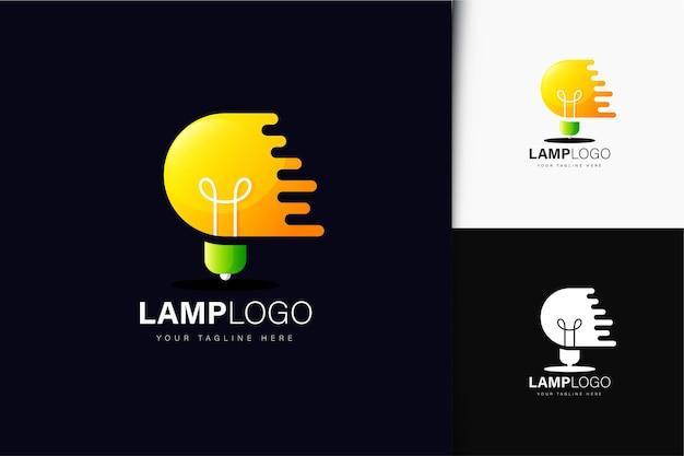 Lampenlogo-design mit farbverlauf