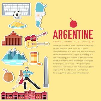 Land argentinien reiseurlaubsführer