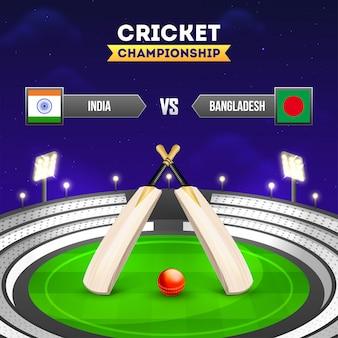 Land des cricket-turniers