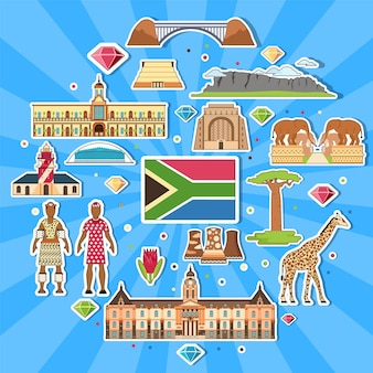 Land südafrika reiseurlaubsführer