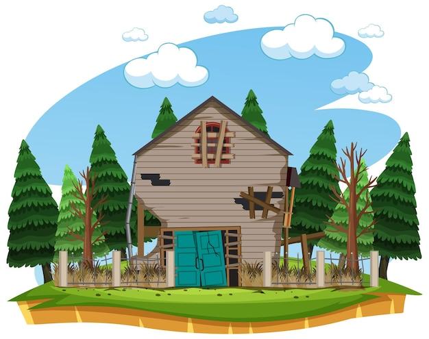 Landhaus isoliert aufgeben