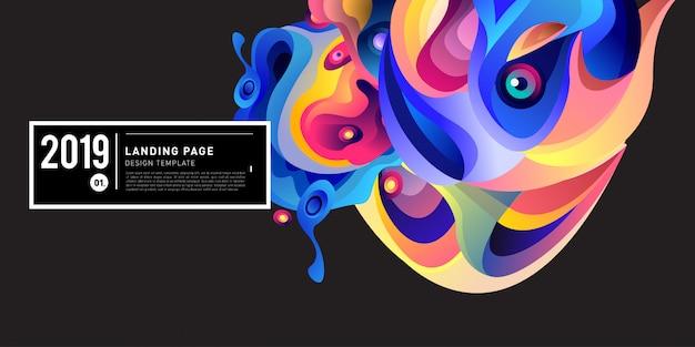 Landing page banner vector design-vorlage