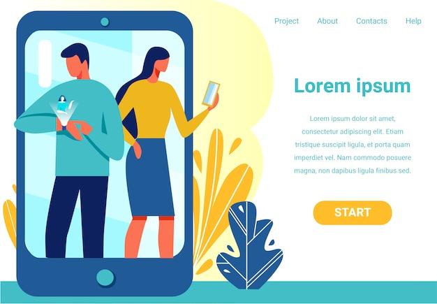 Landing page bietet gerät für drahtlose verbindung