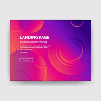 Landing page colorful abstract mit roten gradienten hintergrund