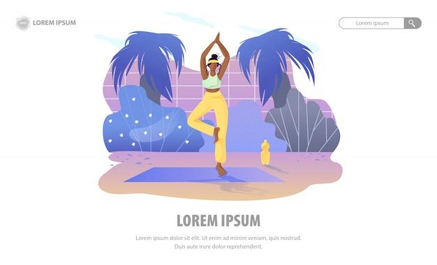 Landing page, das zu hause den garten der meditation fördert