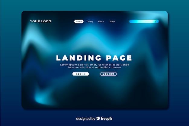 Landing page der blauen wellen der nordlichter