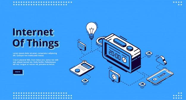 Landing page der iot-technologie von smart home