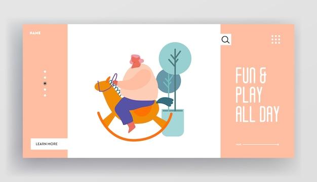 Landing page der website zur erholung und zum spielen von kindern.