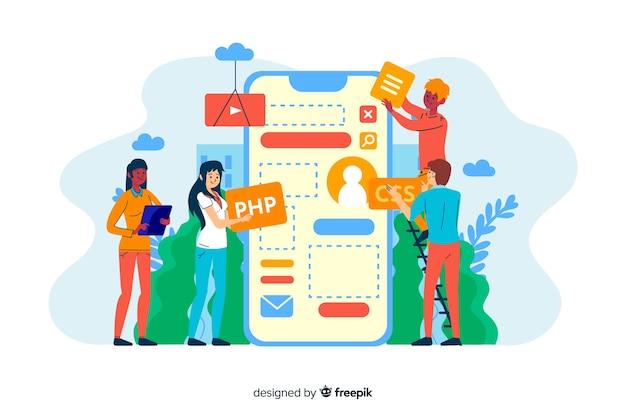 Landing page des konzeptdesignprozesses