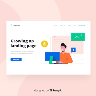 Landing-page-design aufwachsen lassen