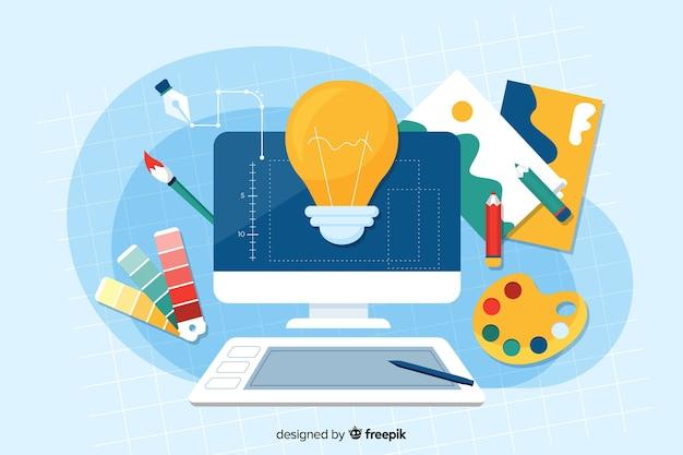 Landing page design-prozess-konzept
