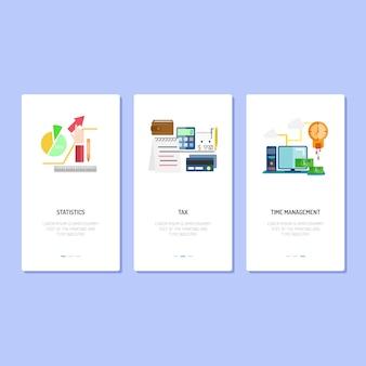 Landing page design | statistik, steuern und management