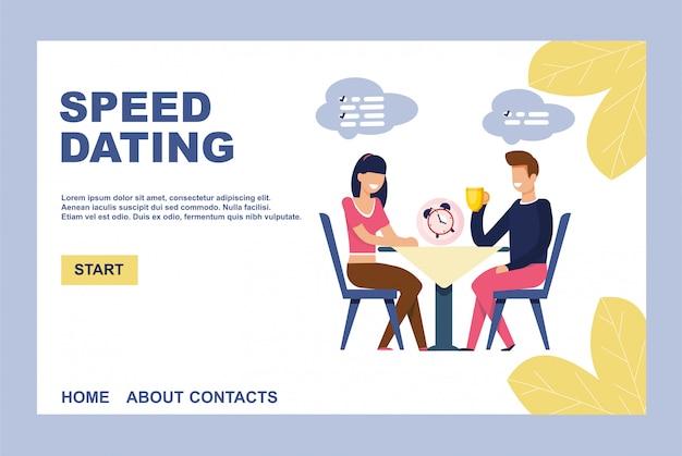Landing page einladen auf effektive speed-dating
