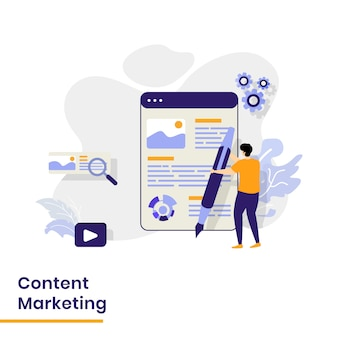 Landing page für content-marketing