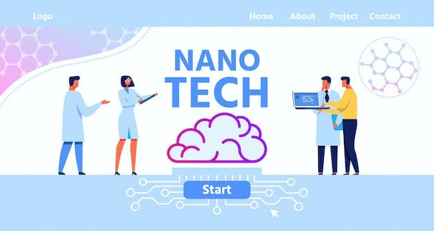 Landing page für das nano tech brain laboratory