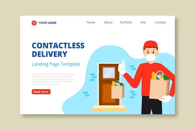 Landing page für die sichere lieferung von lebensmitteln