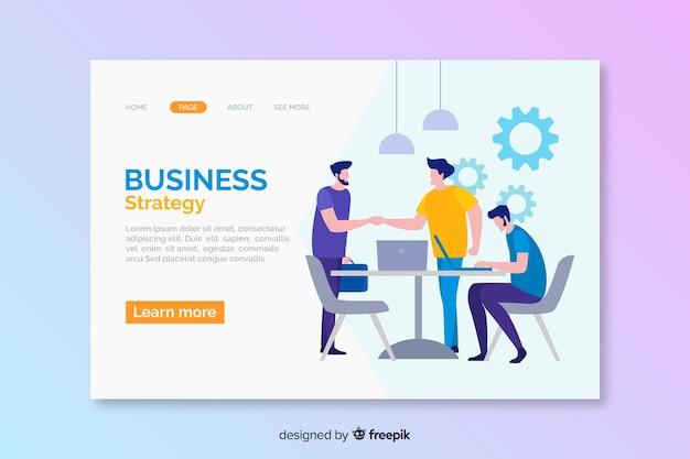 Landing page für digitale geschäftsstrategien