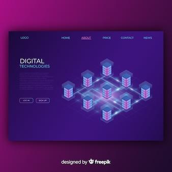 Landing page für digitale technologien