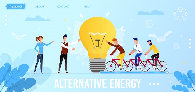 Landing page für eine kampagne zur förderung alternativer energien