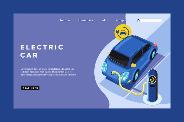Landing page für elektroautos