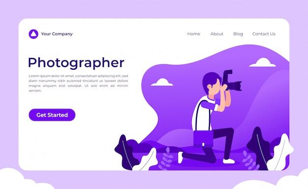 Landing page für fotografen