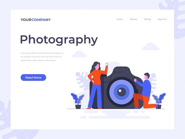 Landing page für kamera und fotografie