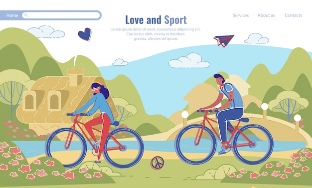 Landing page für liebe und sportmotivation