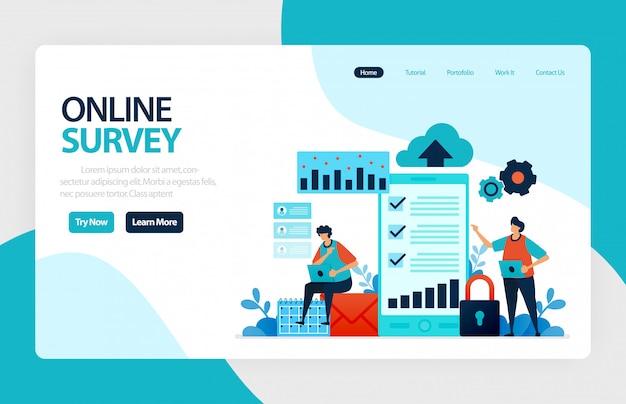Landing page für online-umfragen