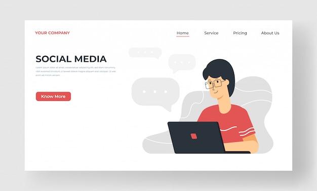 Landing page für soziale medien