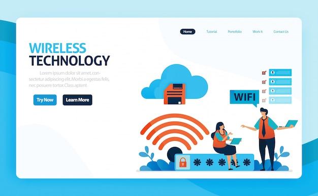Landing page für wlan-verbindung und schutz des internetzugangs