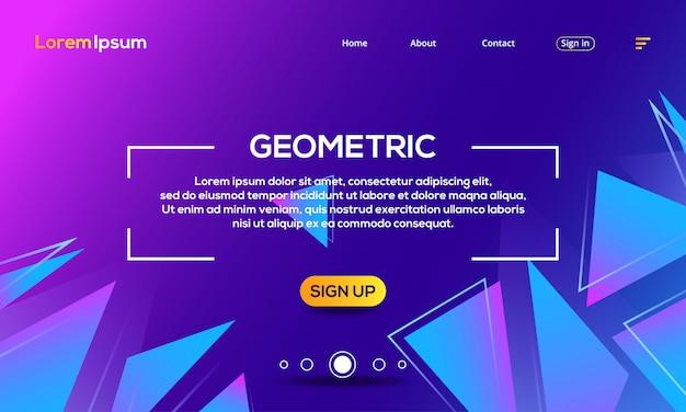 Landing page geometrische textur abstrakte webvorlage