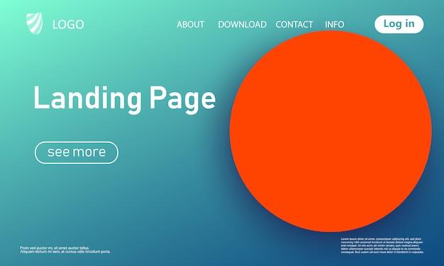 Landing page. geometrischer hintergrund. minimale abstrakte abdeckung. kreative bunte tapete. trendy farbverlaufsplakat. illustration.