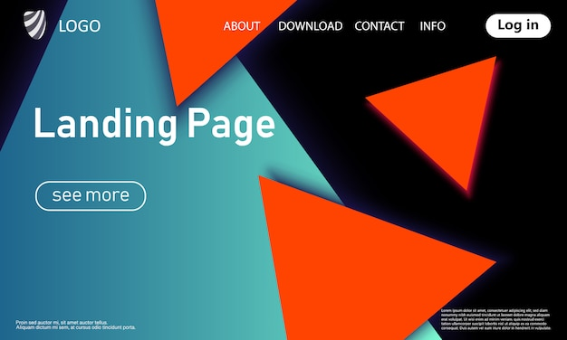 Landing page. geometrischer hintergrund. .