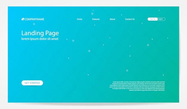 Landing page hintergrundvorlage