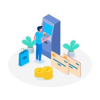 Landing page kreditkarte zahlungskonzept