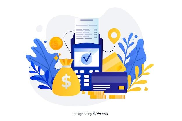 Landing page mit kreditkartenzahlungskonzept