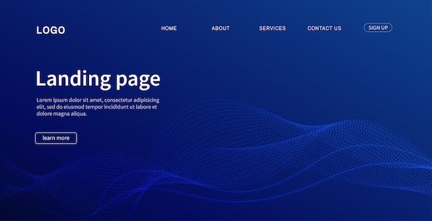 Landing page modernes design für website.