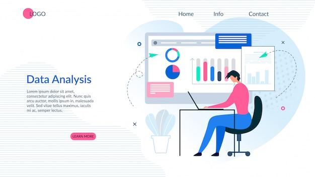 Landing page präsentiert effektive datenanalyse-app