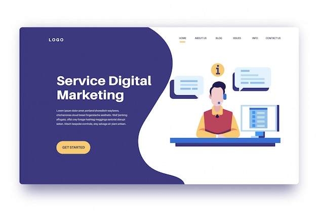 Landing page service digitales marketing