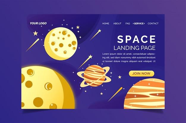 Landing page space design vorlage